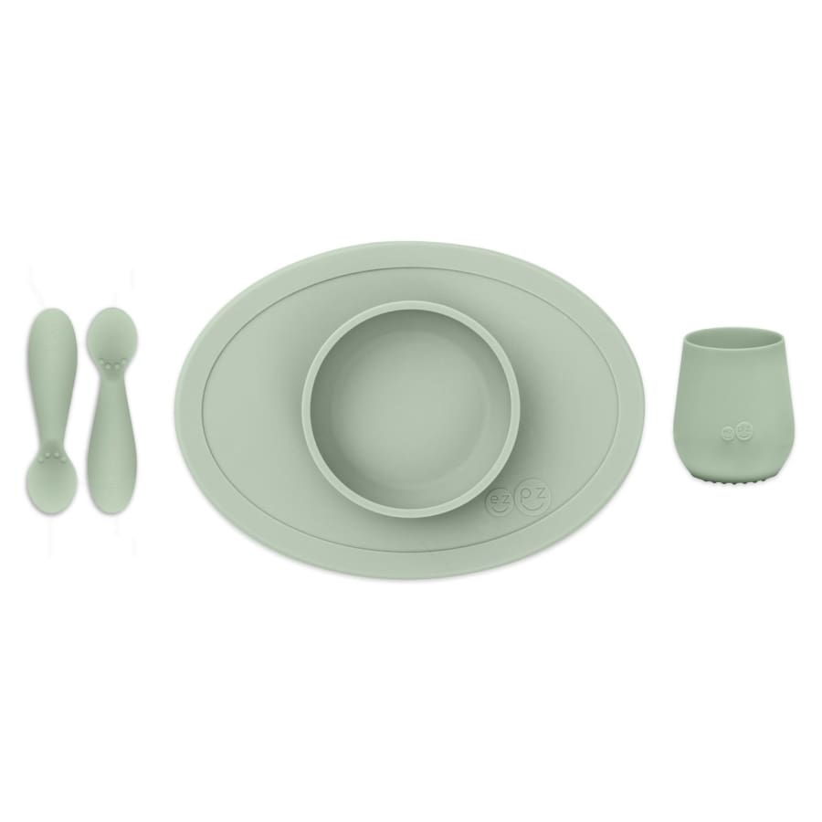 EzPz First Foods Tiny Set Sage - Feeding Bowl, drink cups, ezpz, Feeding