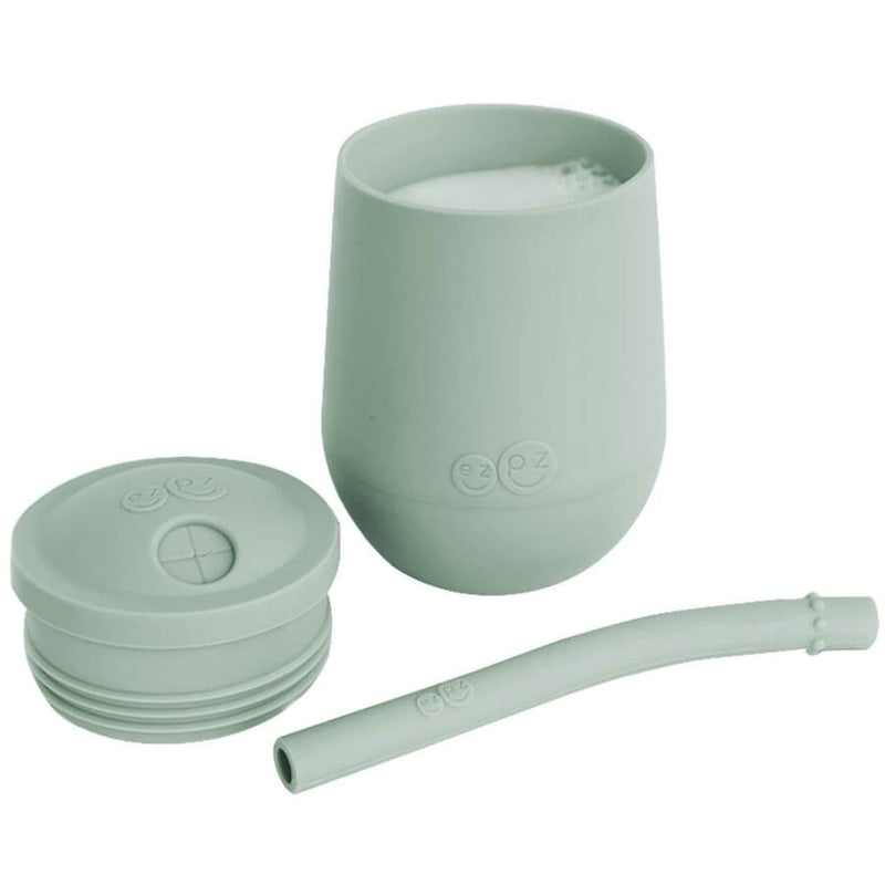 Ezpz Mini Cup + Straw Training System Sage - Feeding Bowl, drink cups, ezpz, Feeding