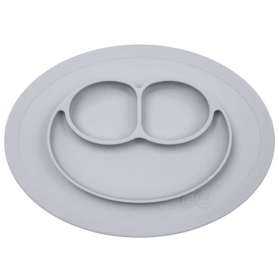 EZPZ Mini Mat Pewter - Feeding bowl feeding plate