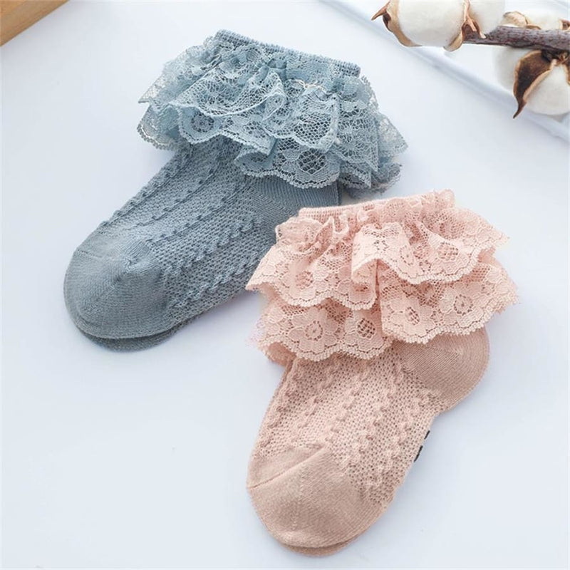 Frilly Lace Ankle Socks - Mustard / 3 to 5 Years - Socks Socks