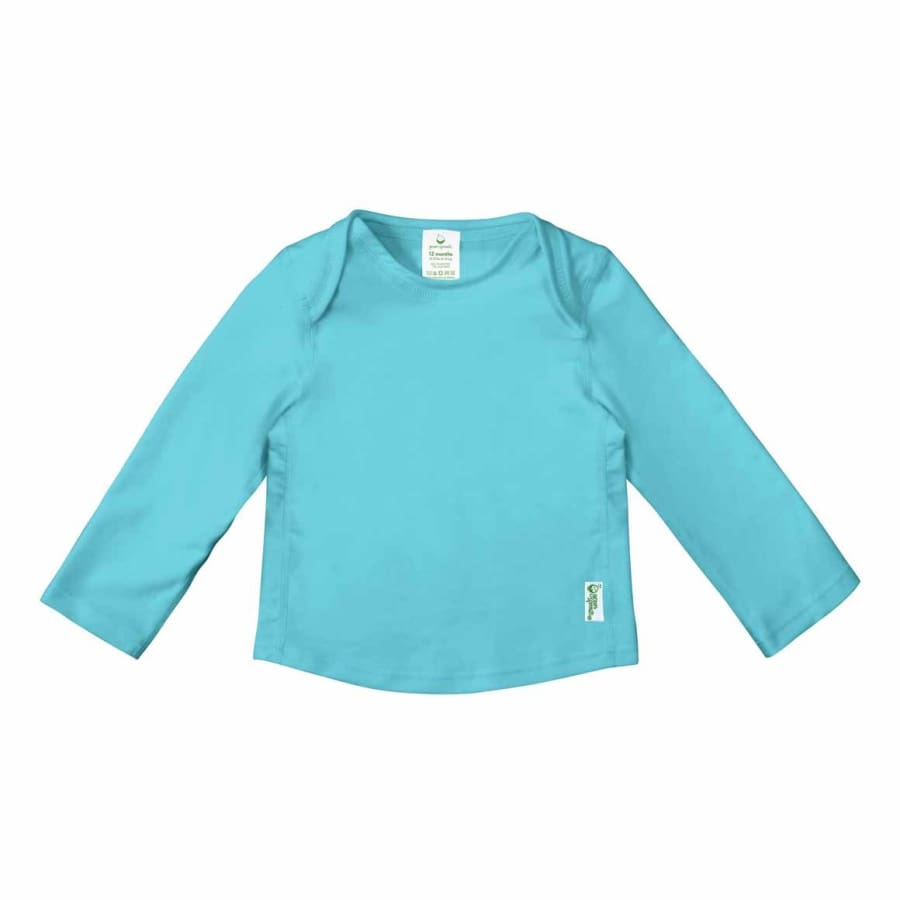 Green Sprouts Easy-On Rashguard Shirt-Aqua - 6 Months - Rash Shirt rash shirt