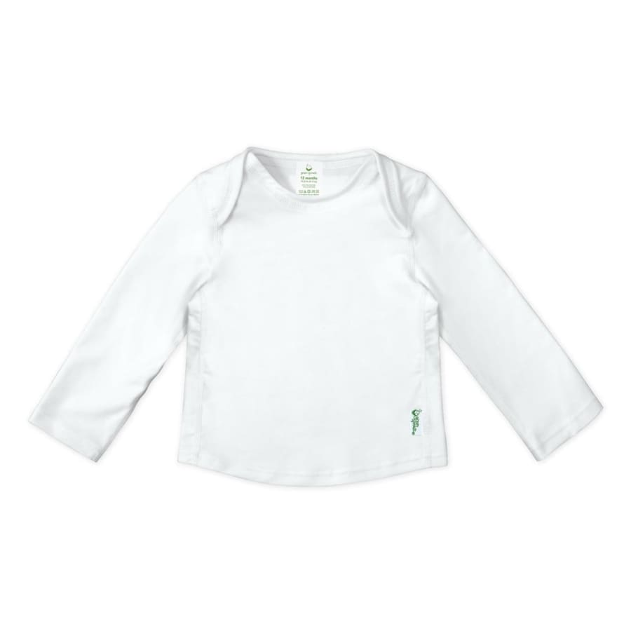 Green Sprouts Easy-On Rashguard Shirt-White - 6 Months - Rash Shirt rash shirt