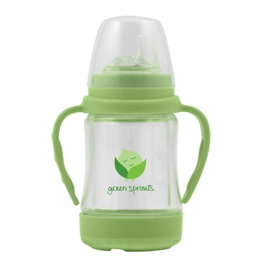 Green Sprouts Glass Sip 'n Straw Cup - Light Lime - Cup Hat