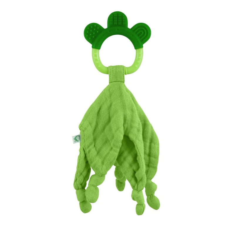 Green Sprouts Muslin Blankie Teether made from Organic Cotton-3mo+ Green - Teether teether