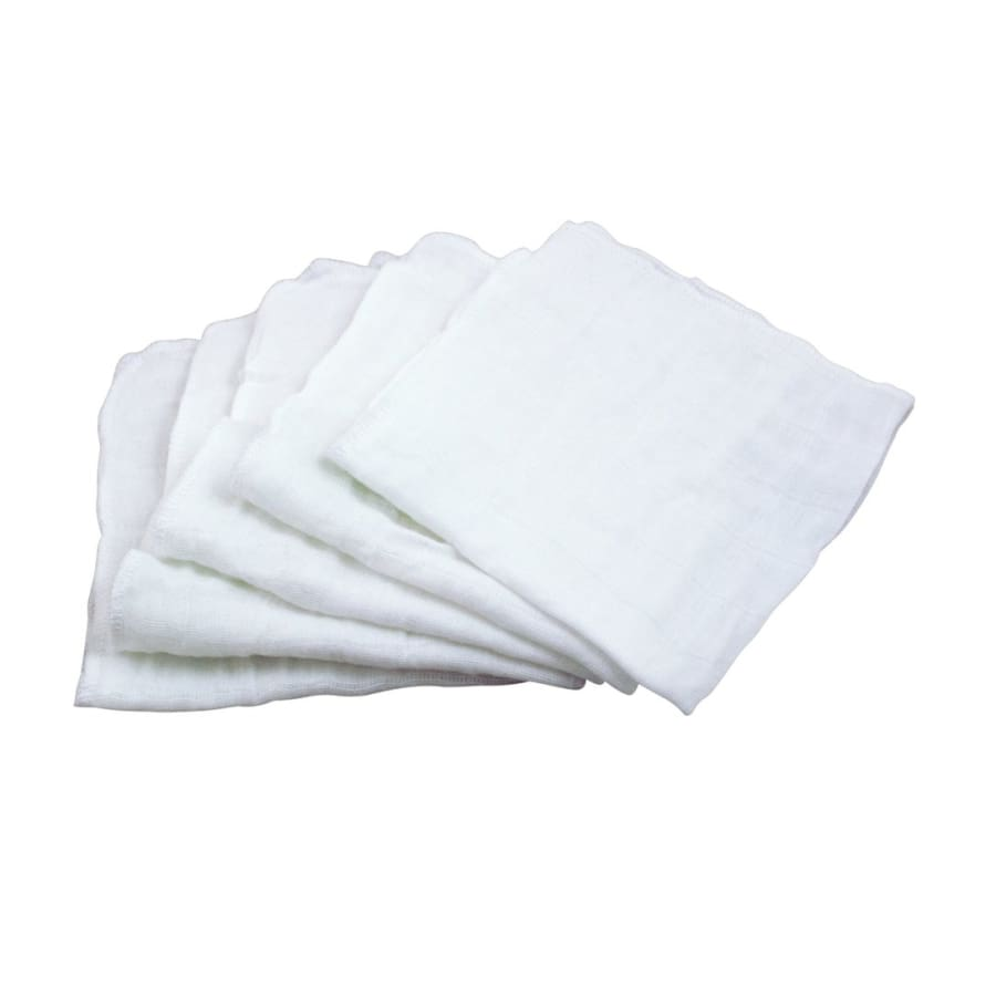 Green Sprouts Reusable Muslin Cloths made from Organic Cotton (5 pack) - Washcloth Washcloth