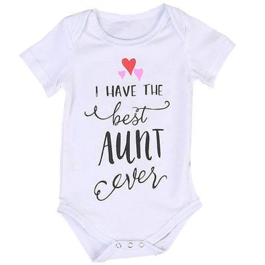 I Have the Best Aunt Ever Onesie - 0-6 Months - Onesie aunt onesie