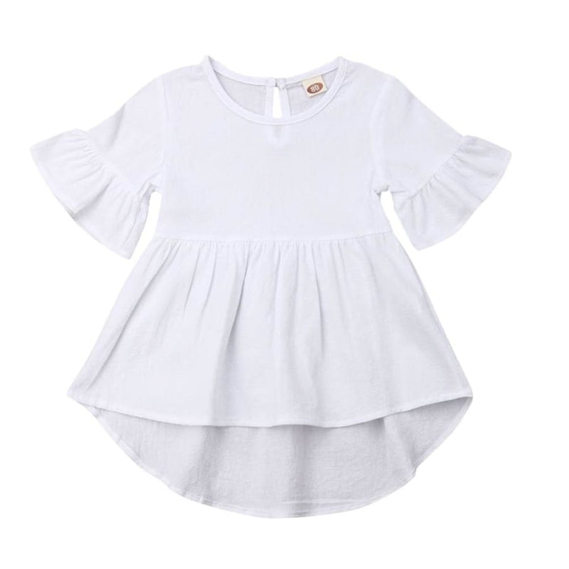 Isabella Hi-Lo Swing Top - Pink / 6-12 Months - Tops Girl ruffle swing top