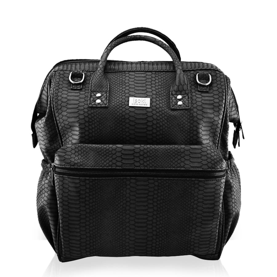 Isoki Byron Backpack - Black Mumba - Nappy Bag isoki, Nappy Bag