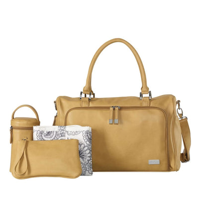 Isoki Double Zip Satchel Sorento Light Tan - Nappy Bag isoki, Nappy Bag 5% off