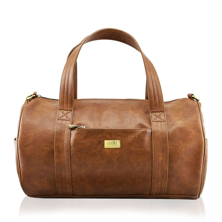 Isoki Kington Duffle Bag - Redwood - Nappy Bag duffle isoki nappy bag redwood vintage