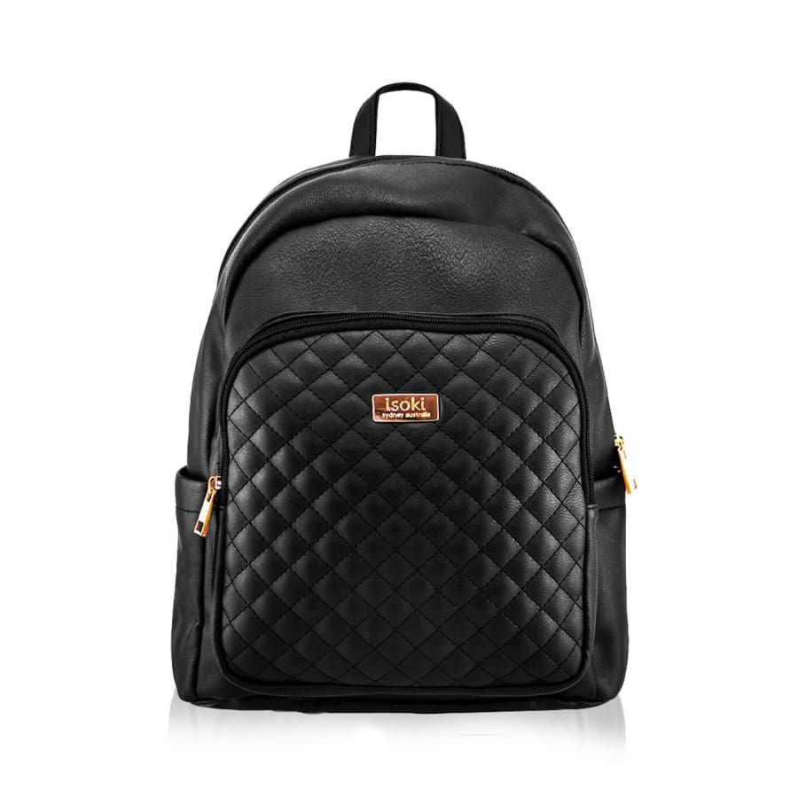 Isoki Marlo Backpack - Ebony - Nappy Bag backpack, ISOKI, marlo, stone