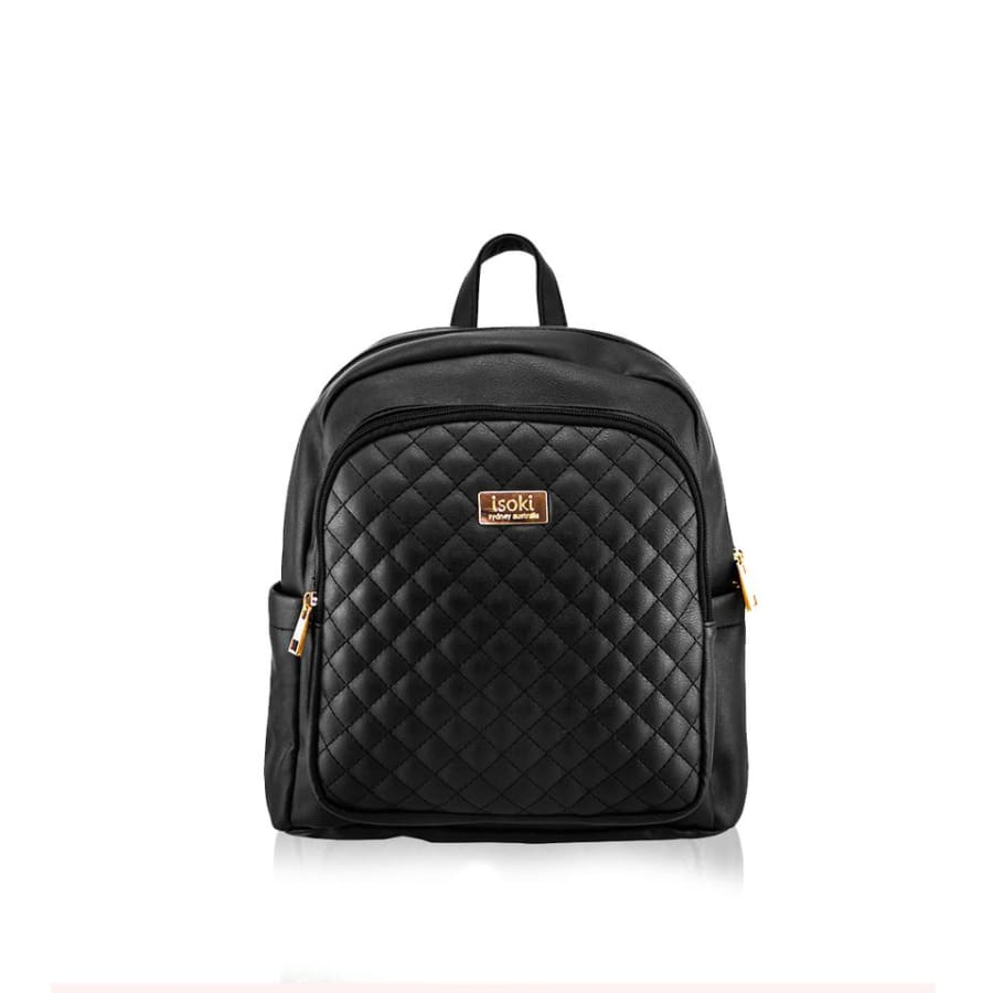 Isoki Marlo Mini Backpack - Ebony - Nappy Bag backpack, ISOKI, marlo, mini, mummy