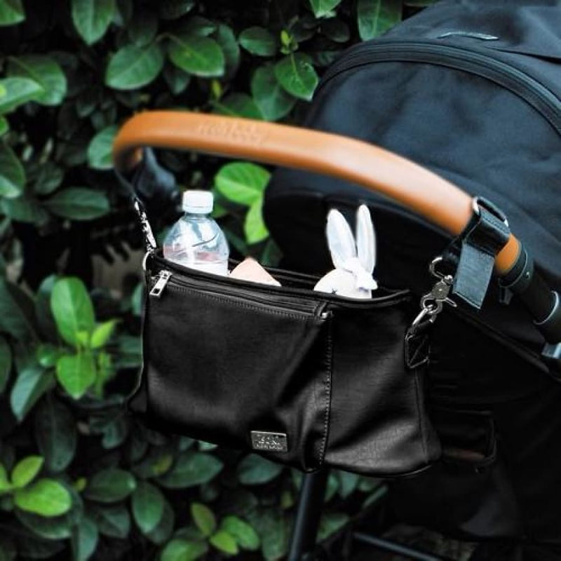 Isoki Tully Stroller Caddy - Onyx Black - Nappy Bag Accessory caddy isoki stroller tully
