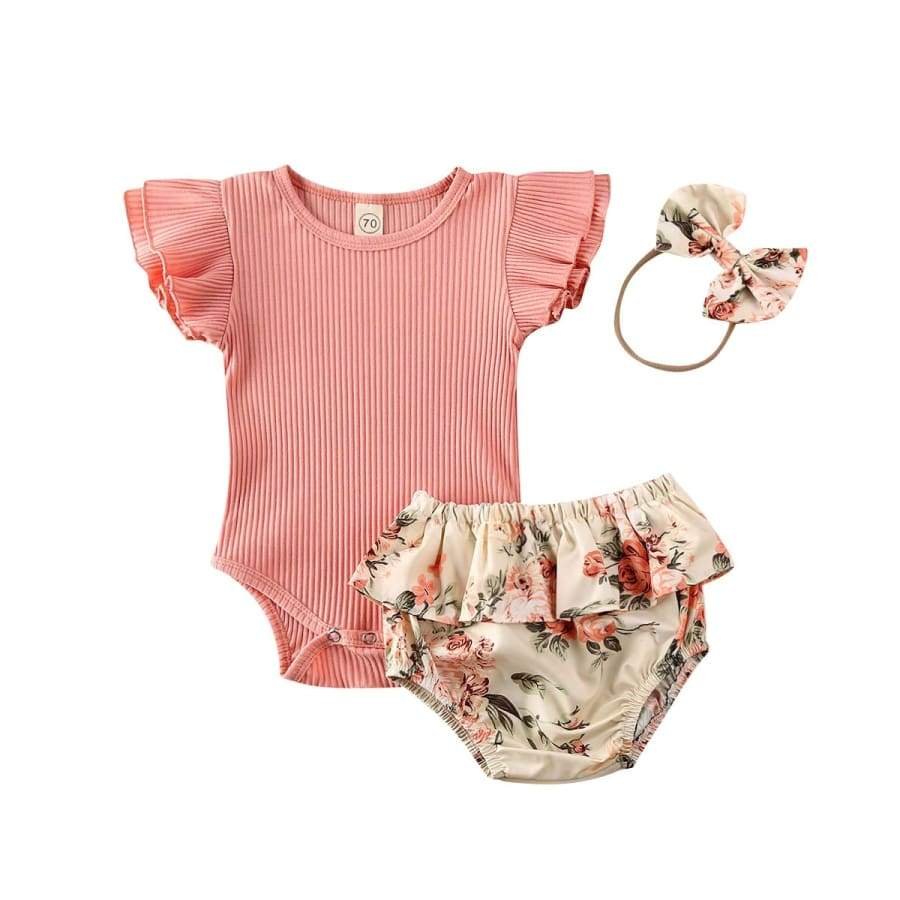 Issy Peach Bloomer Set - 6-12 Months - Sets bloomer sets