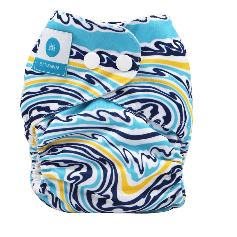 itti Bitti Reusable Swim Nappy - Summer Wave - Small - Cloth Nappies cloth nappy