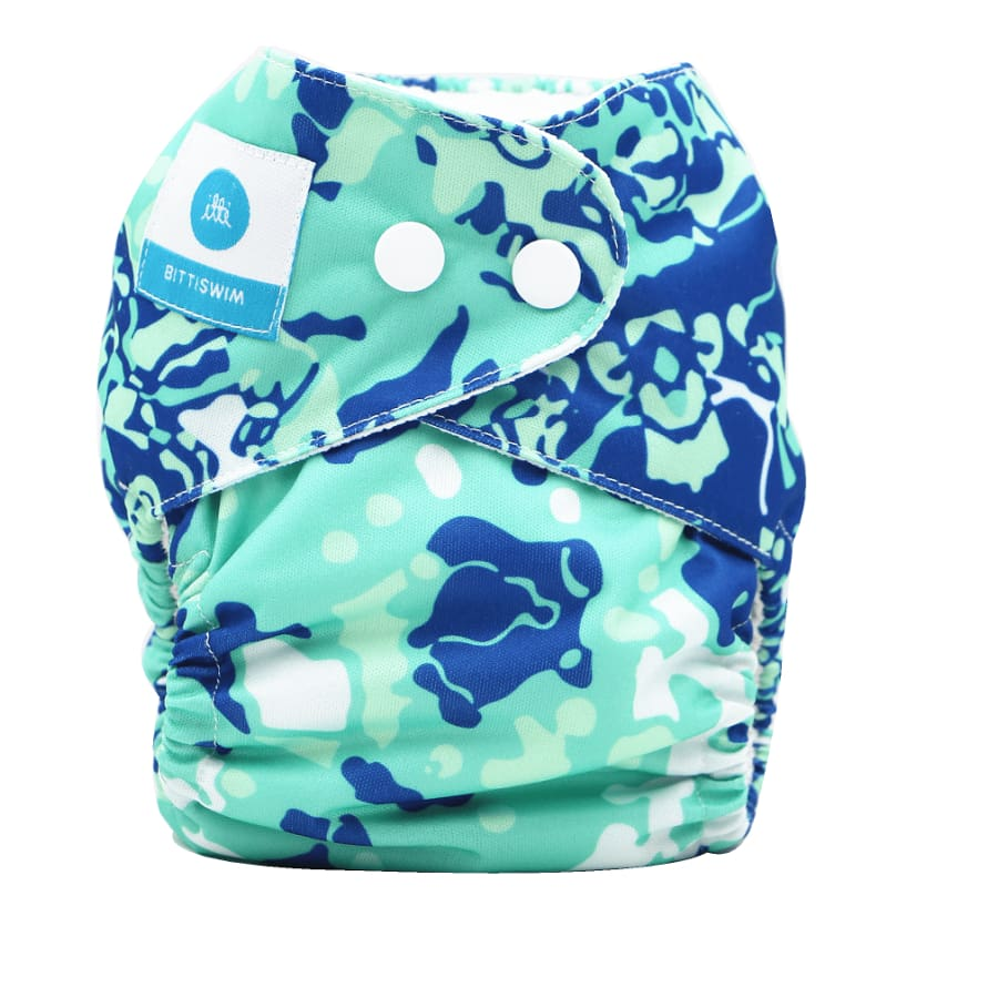 itti Bitti Reusable Swim Nappy - Tropical Waters - Small - Cloth Nappies cloth nappy