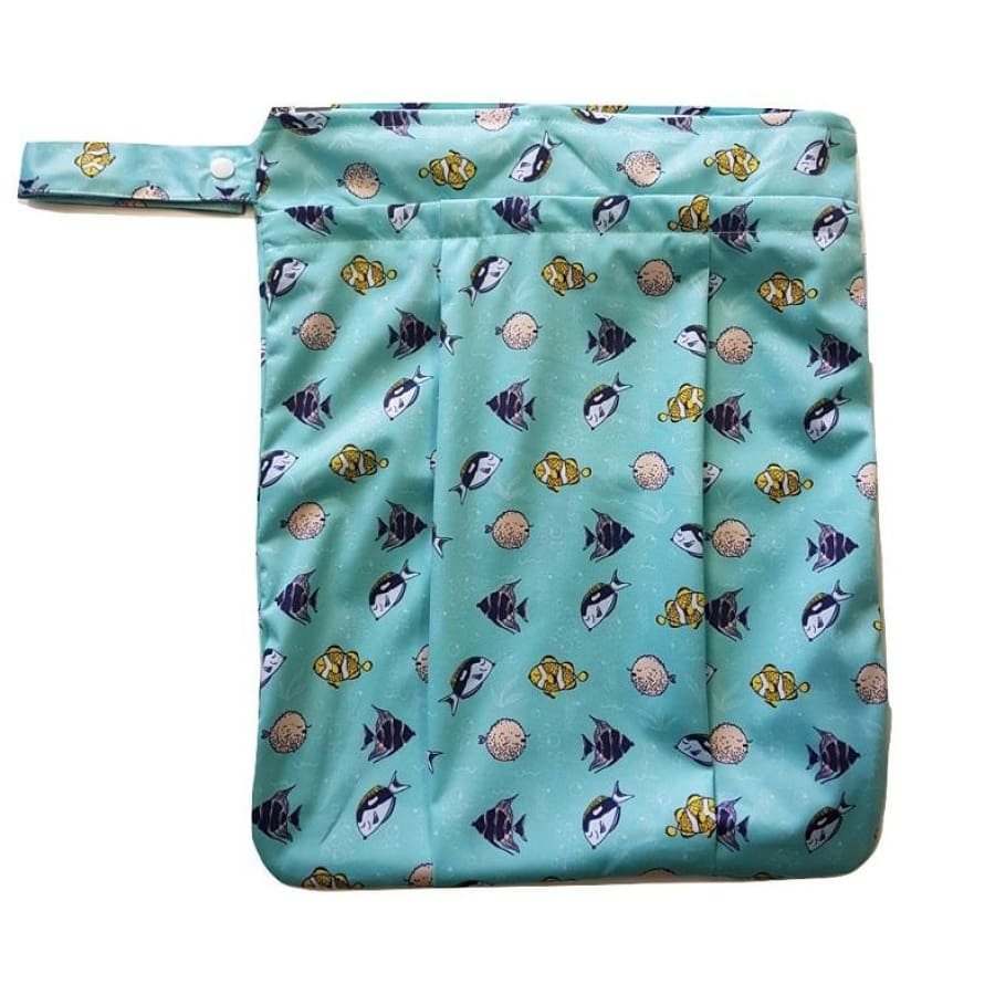 itti Premium Double Pocket Wetbag - Bubbles - Cloth Nappies wet bag