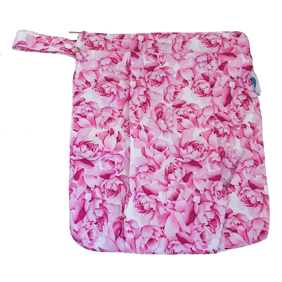 itti Premium Double Pocket Wetbag - Peony - Cloth Nappies wet bag