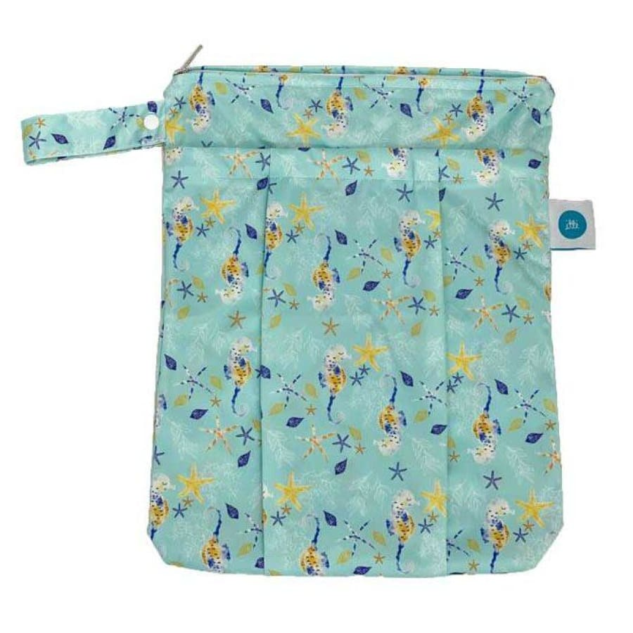 itti Premium Double Pocket Wetbag - Seahorse - Cloth Nappies wet bag