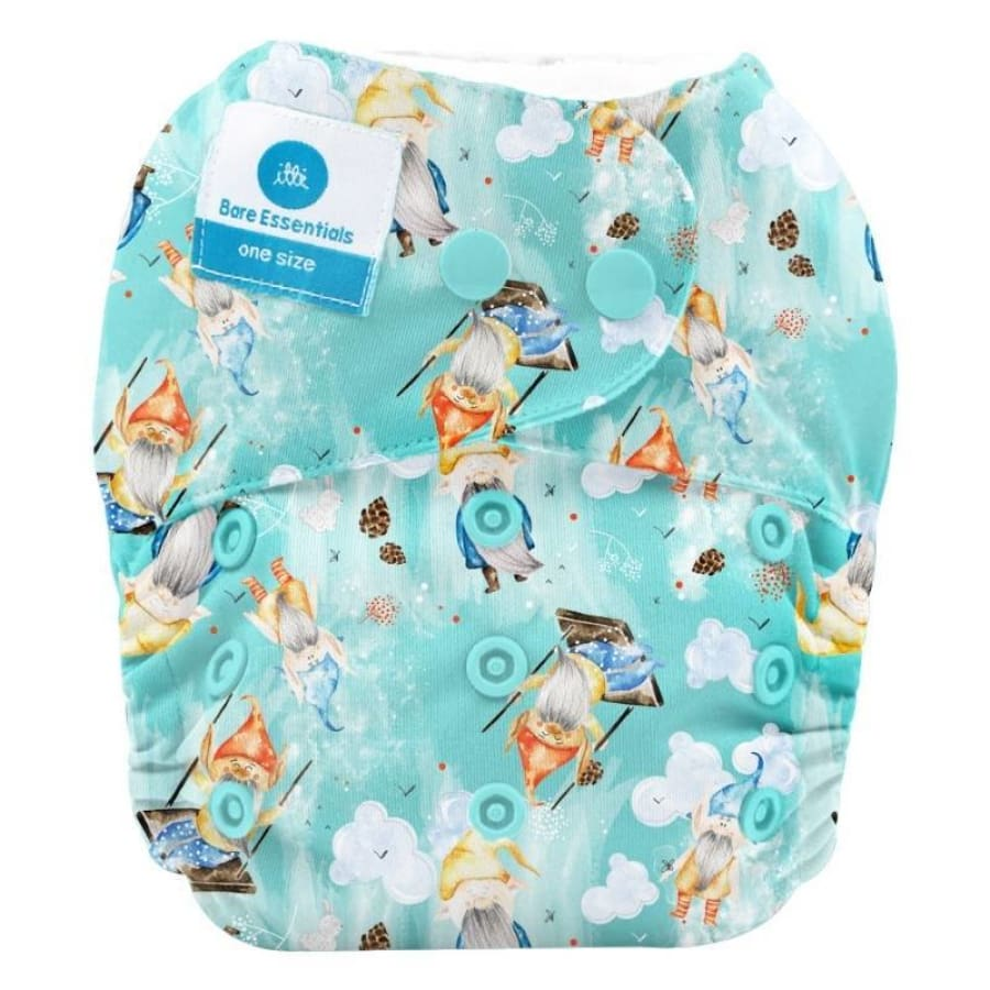 itti Snap Bare Essentials One Size Fits Most Nappy – Lucky - Bamboo - Cloth Nappies cloth nappy