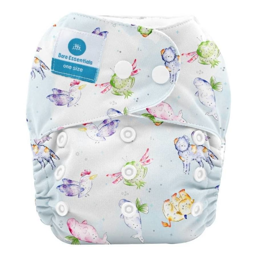 itti Snap Bare Essentials One Size Fits Most Nappy – Mystical Creatures - Bamboo - Cloth Nappies cloth nappy