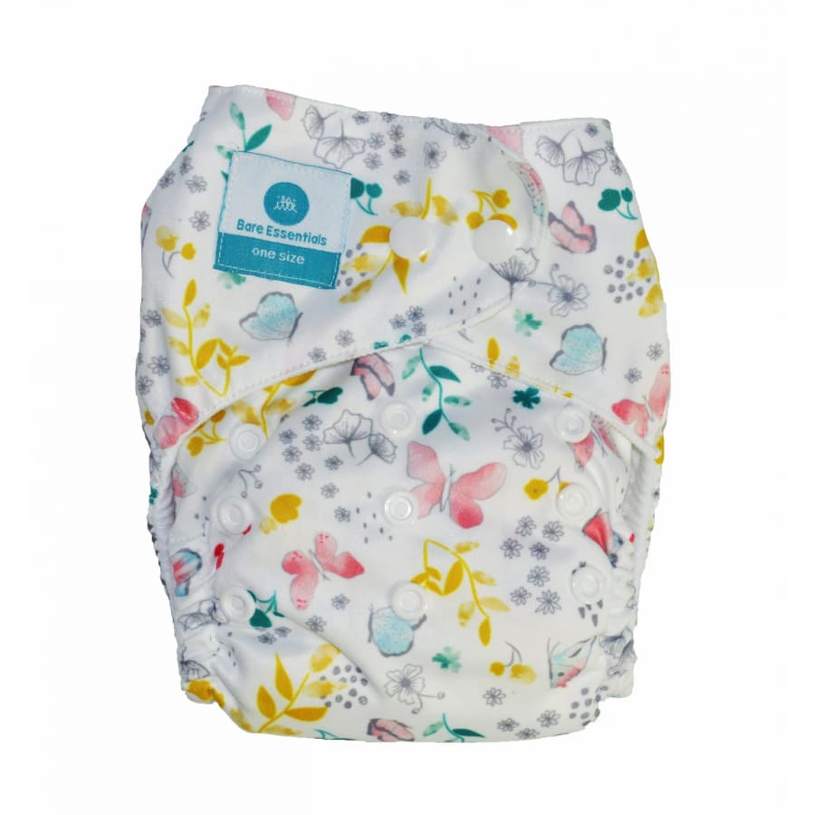 itti Snap Bare Essentials One Size Fits Most Nappy Papillon - Bamboo - Cloth Nappies cloth nappy