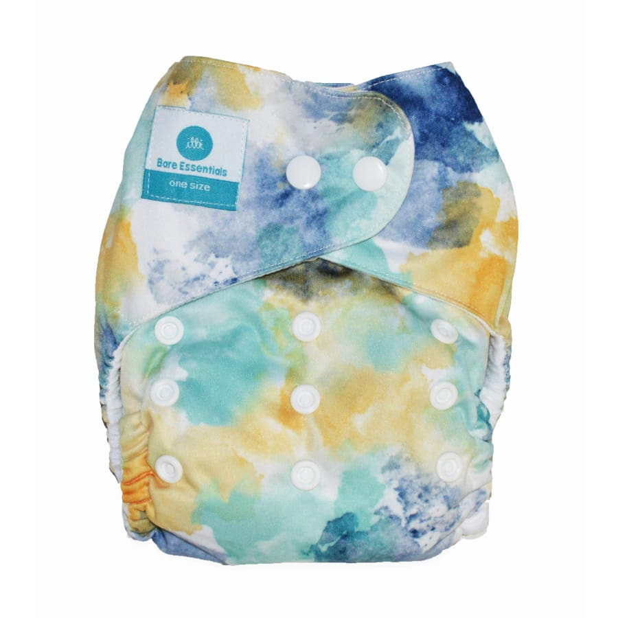 itti Snap Bare Essentials One Size Fits Most Nappy Splash - Bamboo - Cloth Nappies cloth nappy
