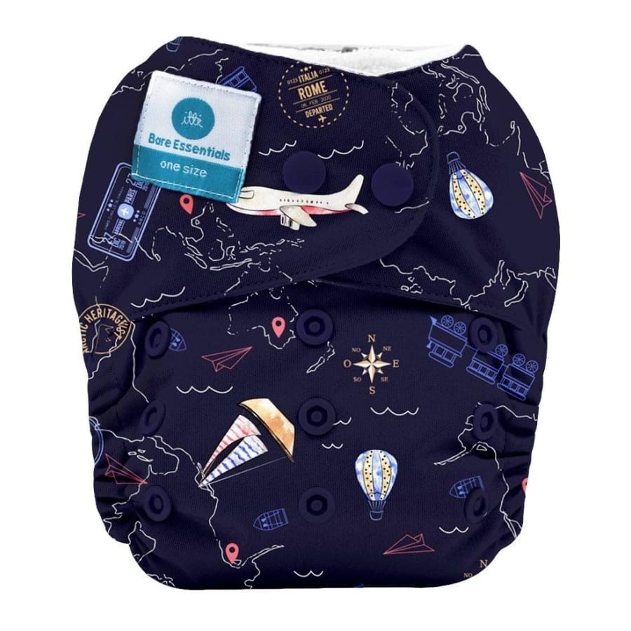 itti Snap Bare Essentials One Size Fits Most Nappy – Travel - Bamboo - Cloth Nappies cloth nappy 5% off