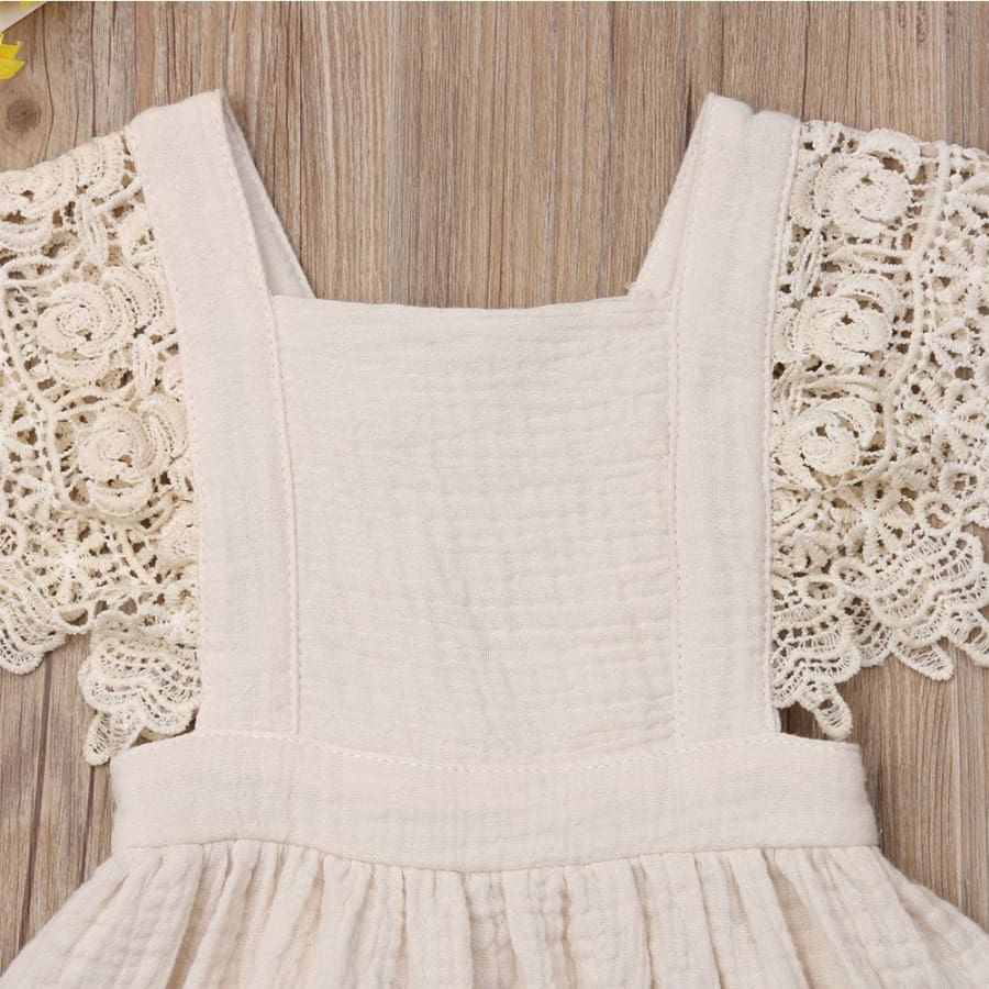 Jacqueline Lace Flutter Pinafore Dress - Dress Dress Lace vintage