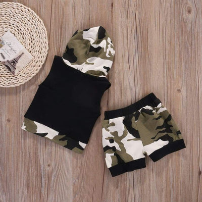 Jake Camo Hooded Short Set - Sets Boys Sets