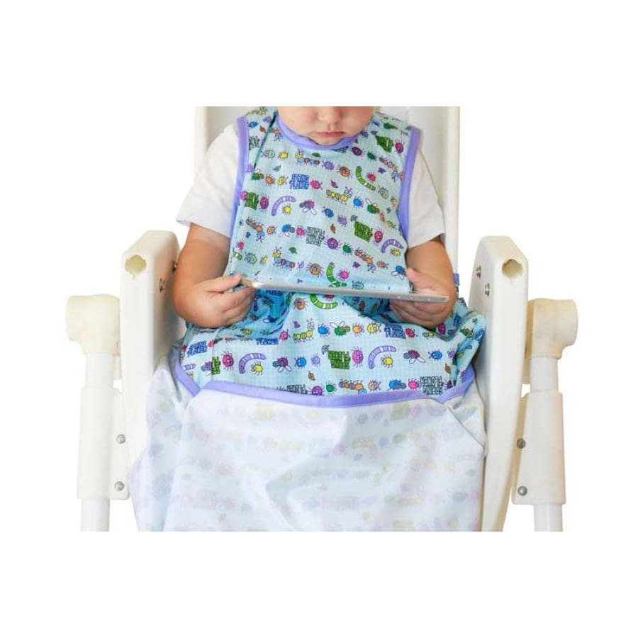 Japoodah Food Catcher Bib Set - Cute Bugs - Bib bib, catcher