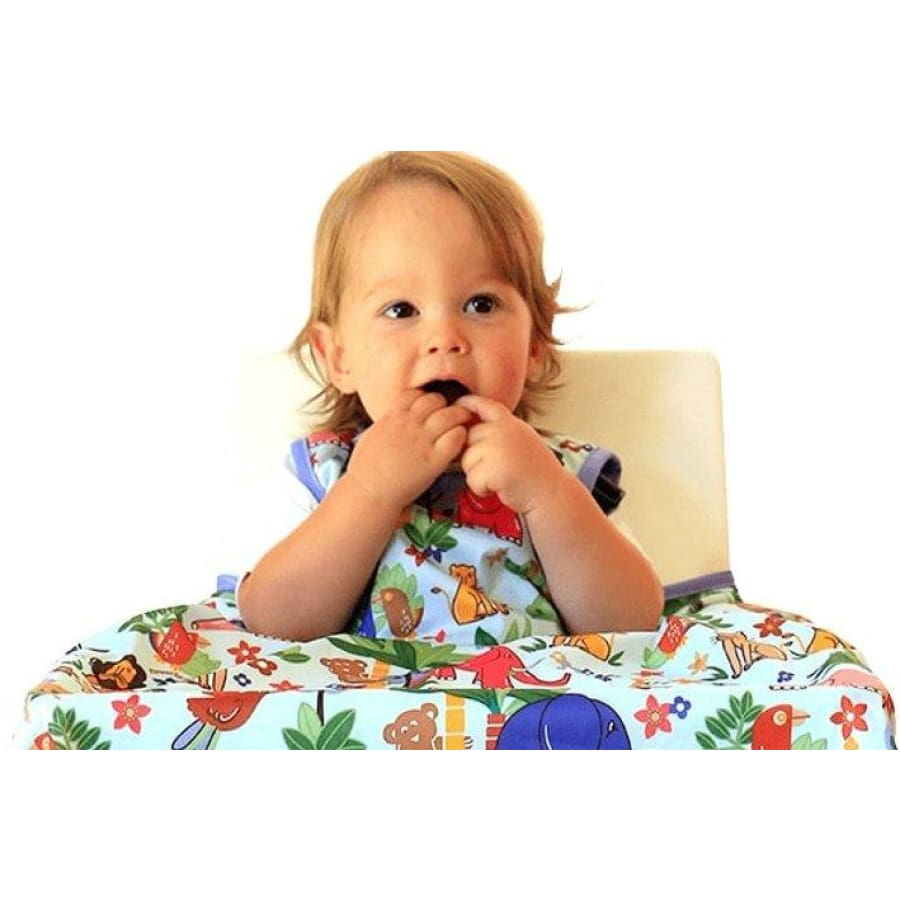 Japoodah Food Catcher Bib Set - Zoo Animals - Bib bib, catcher
