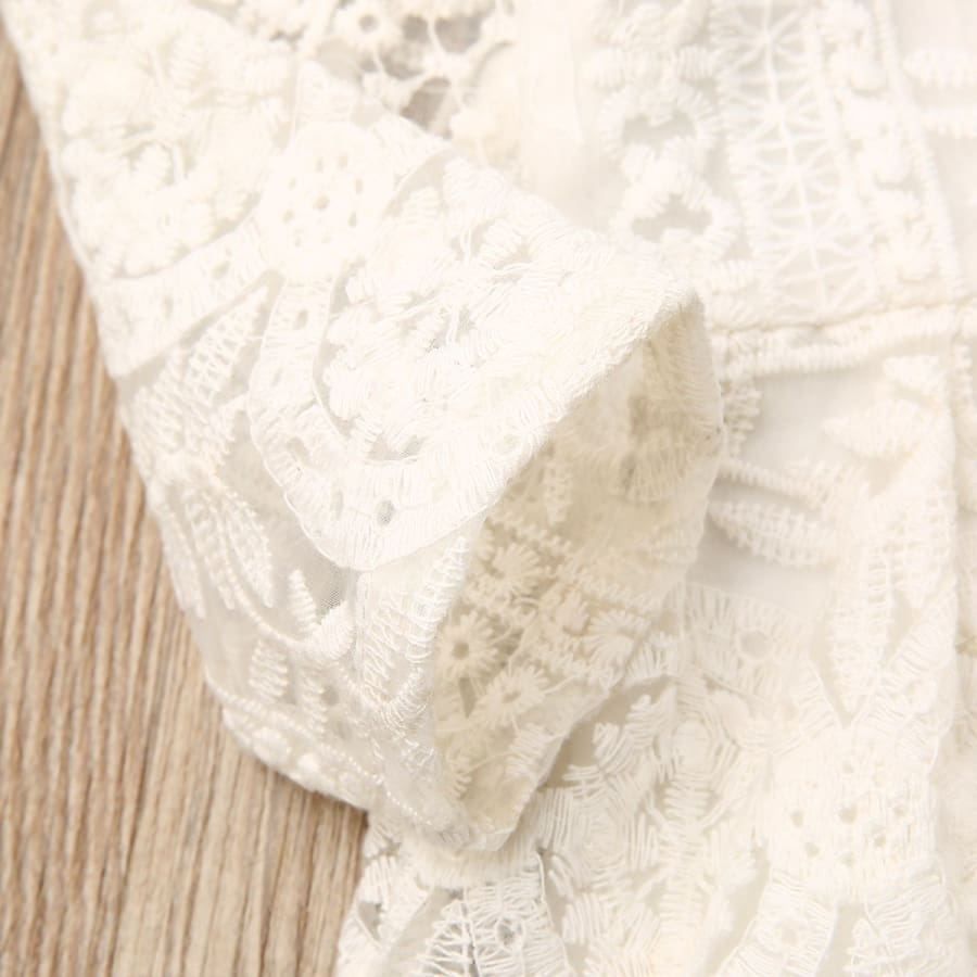 Liza Lace Long Sleeve Romper - Rompers Rompers