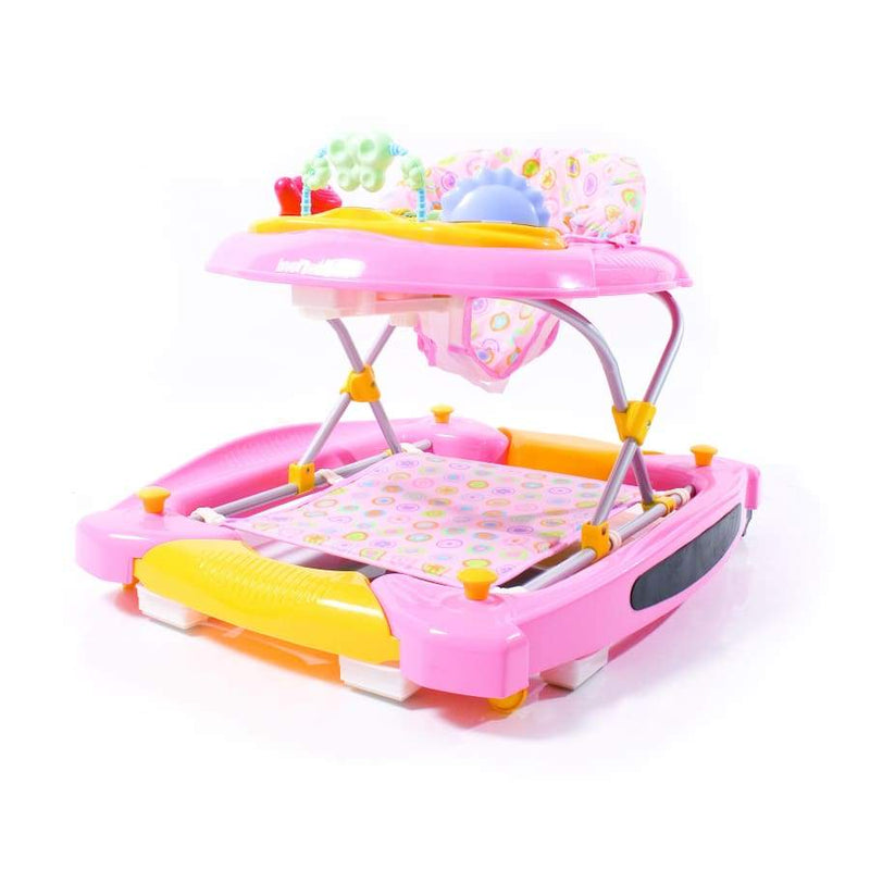 Love n Care Rock n Walk Walker Candy Pink - Walker baby bouncer love n care rocker swing
