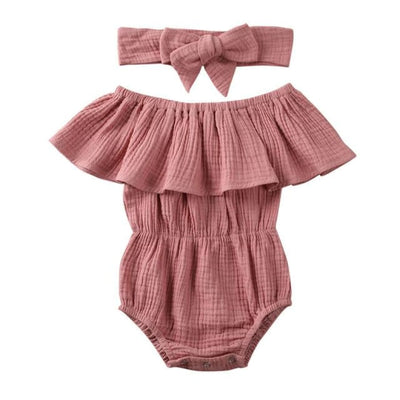 Morgan Waisted Romper - Blush / 12-18 Months - Rompers Rompers