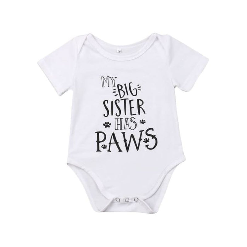 My Big Brother/Sister Has Paws Onesie - Onesies brother dog onesies paws sister