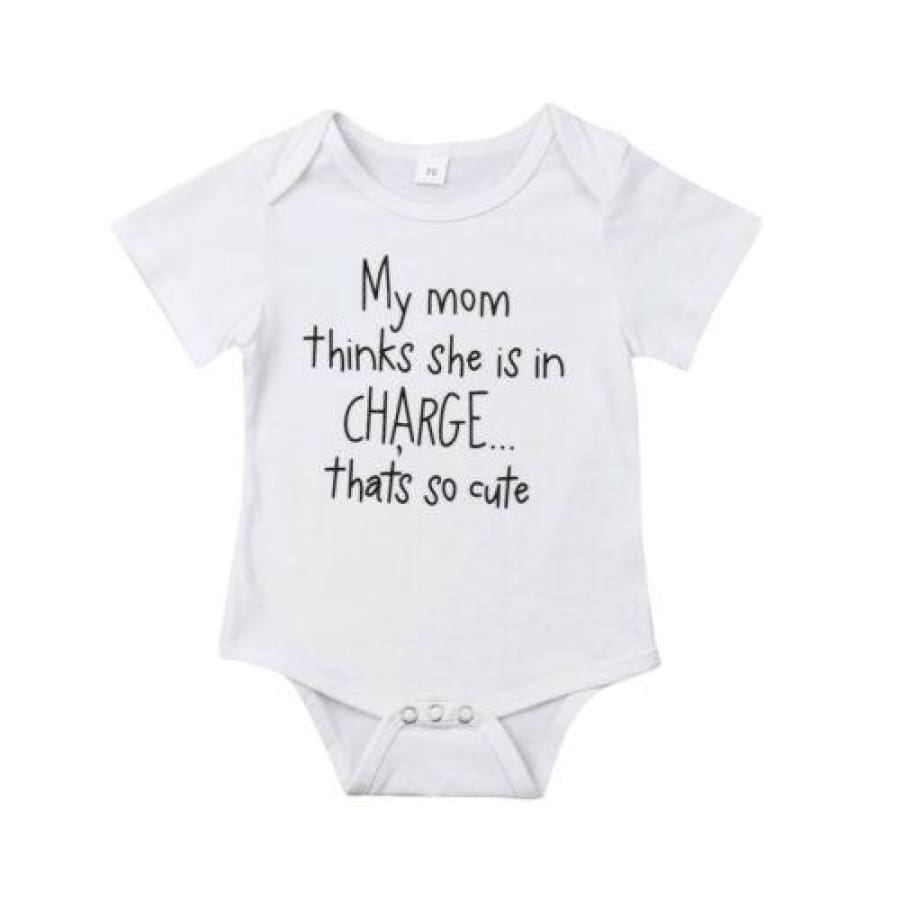 My Mom Thinks Shes in Charge Onesie - 0-6 Months - Onesie mum onesie unisex