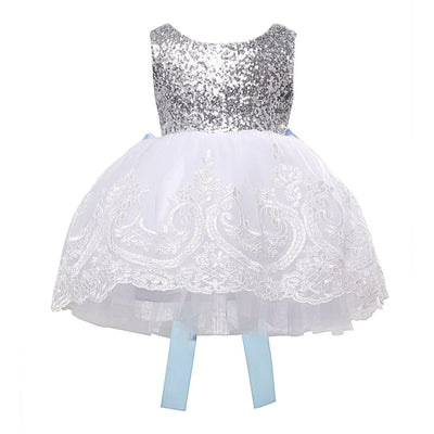 Nellie Big Bow Lace Formal Dress - 0-6 Months - formal dress dress, formal, party