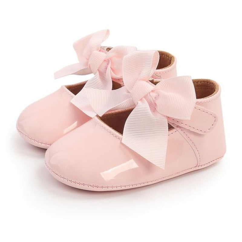 Nikki Soft Sole Princess Bow Shoes - Red / 0-6 Months - Shoes shoes