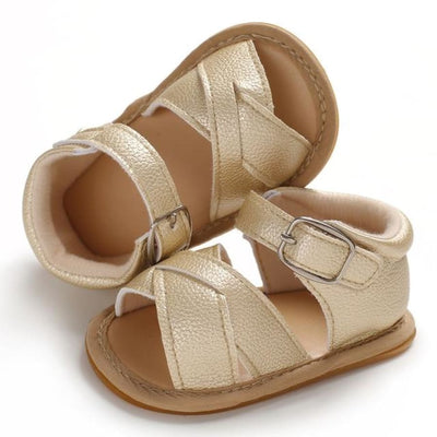 Nova Pre-Walker Sandal - Gold / 0-6 Months - Shoes pre-walker sandal shoes