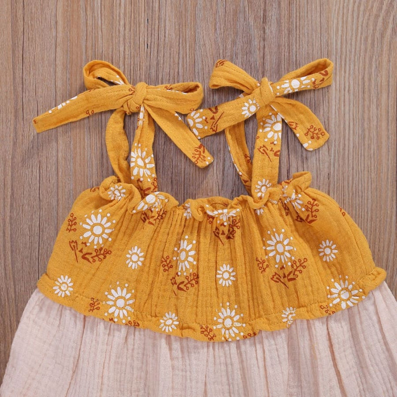 Nova Spaghetti Strap Patchwork Dress - 4-5 Years - Dress dress