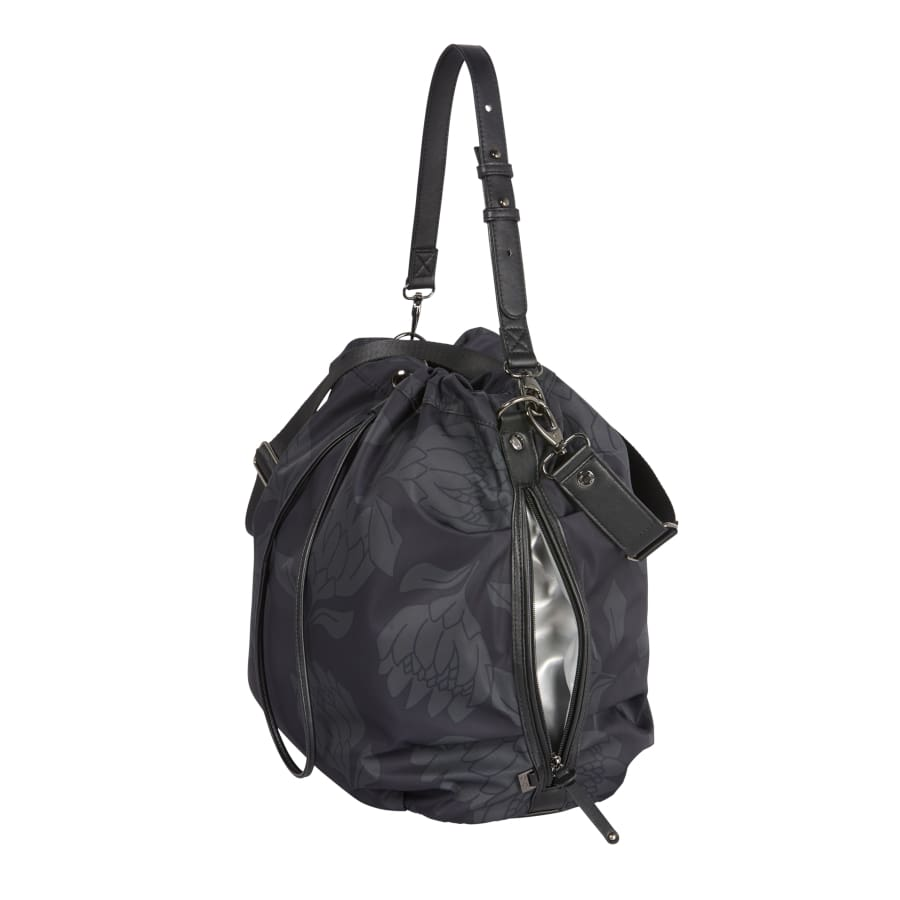 OiOi Bucket Tote Nappy Bag - Protea Black/Grey - Nappy Bag nappy bag
