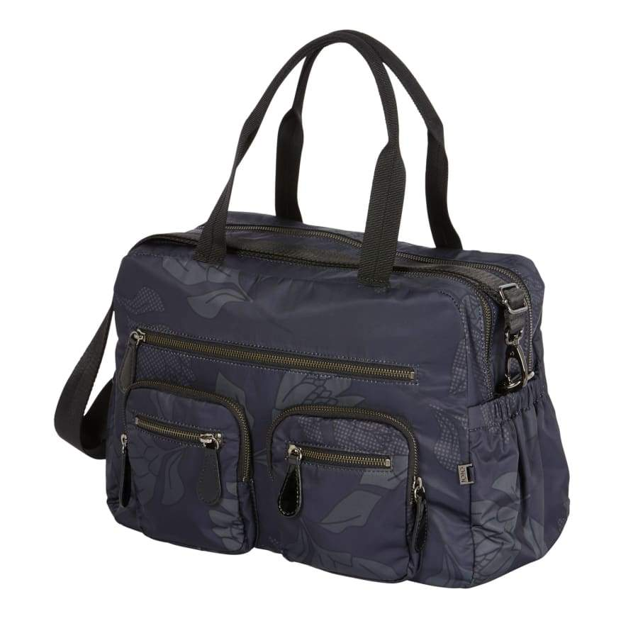 OiOi Carry All Black Protea Nappy Bag - Nappy Bag nappy bag