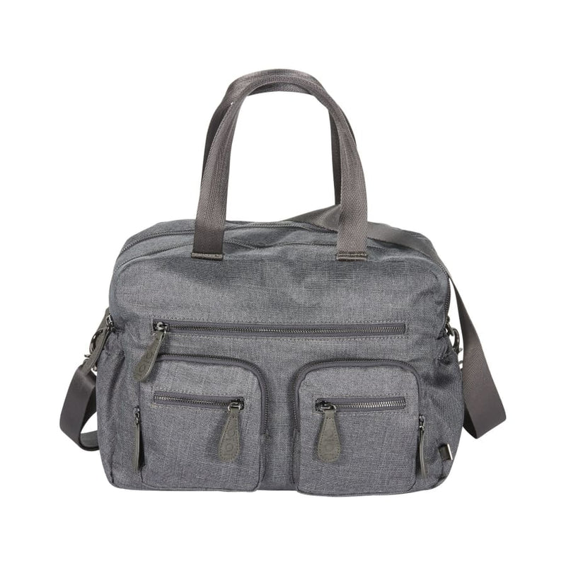 OiOi Carry All Nappy Bag - Grey Denim - Nappy Bag nappy bag