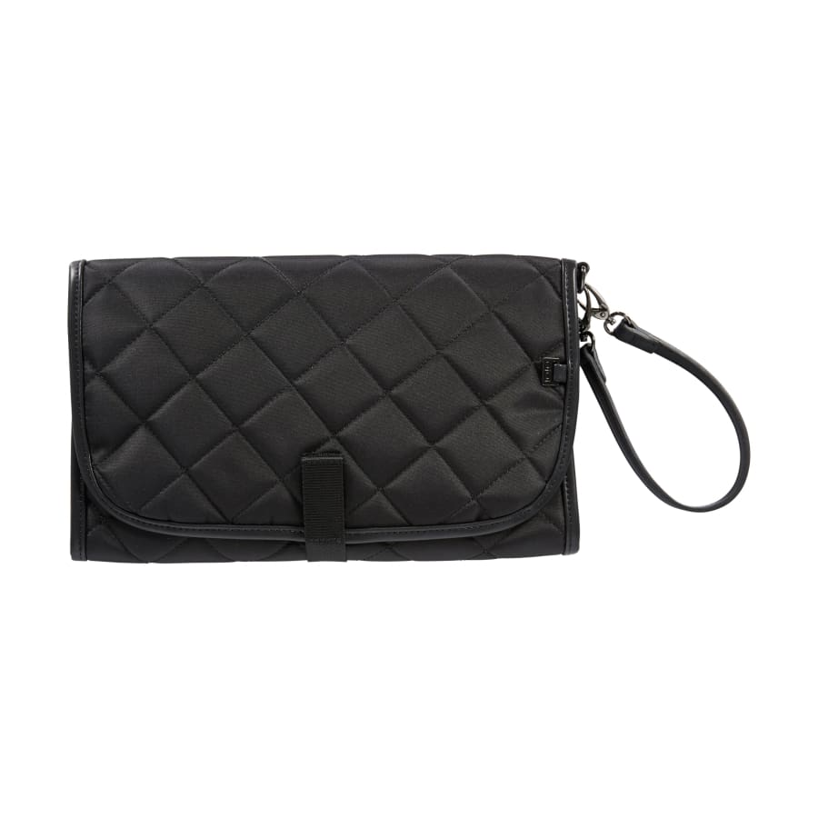 OiOi Change Mat Clutch - Black Quilt - Nappy Bag nappy bag