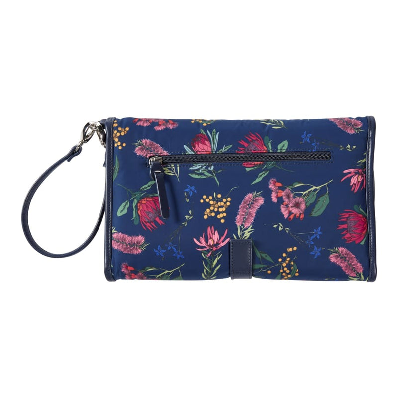 OiOi Change Mat Clutch - Botanical Navy - Nappy Bag nappy bag
