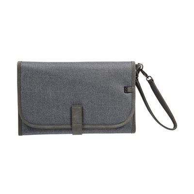 OiOi Change Mat Clutch - Denim Grey - Nappy Bag nappy bag