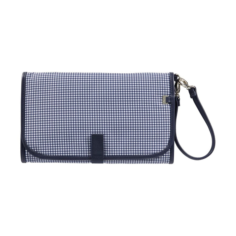OiOi Change Mat Clutch - Navy/White Gingham - Nappy Bag nappy bag
