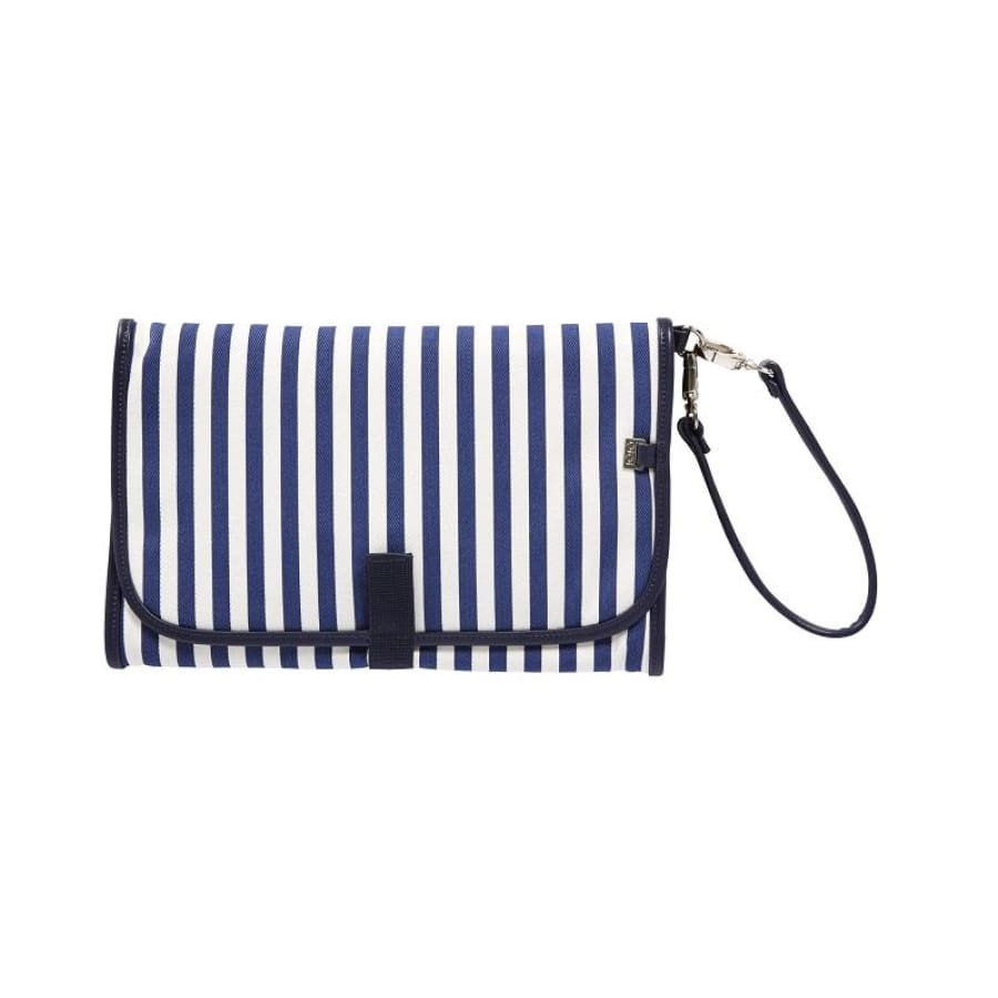 OiOi Change Mat Clutch - Navy/White Stripe - Nappy Bag nappy bag