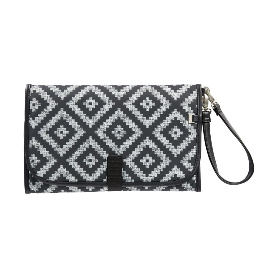 OiOi Change Mat Clutch - Peat Aztec Chevron - Nappy Bag nappy bag